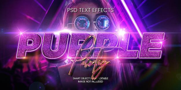 Fioletowy efekt tekstu imprezy