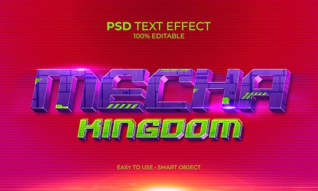 Fioletowy efekt tekstu królestwa mecha