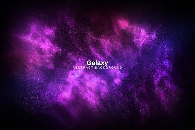 Fioletowy galaxy streszczenie tle