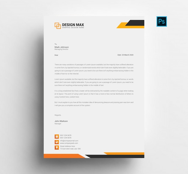 Firmowy papier firmowy