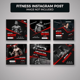 Fitness i siłownia instagram post banner s