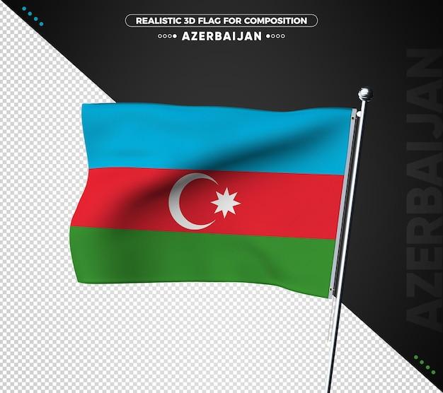Flaga azerbejdżanu z teksturą 3d dla składu