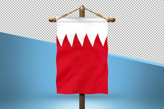 Flaga bahrajnu powiesić w tle