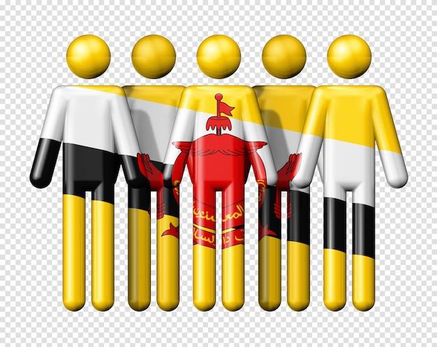 Flaga brunei na trzymać dane