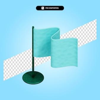 Flaga ilustracja renderowania 3d na białym tle