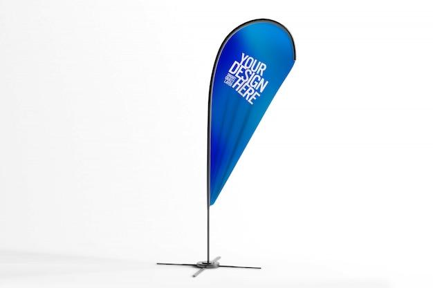 Flaga makieta reklamy