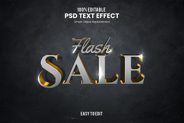 Flash saleefekt tekstowy