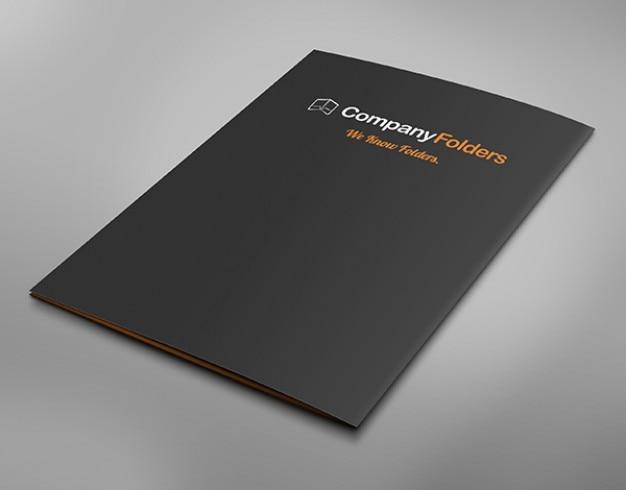 Folder z powrotem pokrywę makieta szablon biznes darmo psd