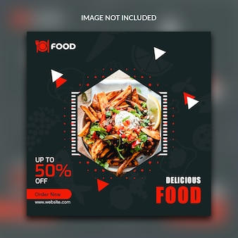 Food instagram kwadratowy post banner
