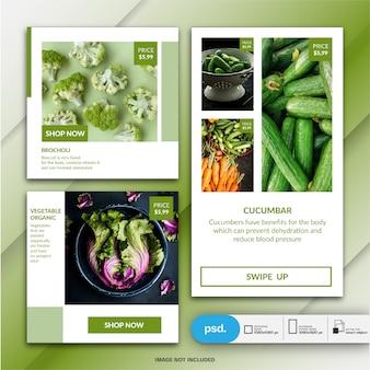 Food marketing marketing szablon mediów społecznościowych