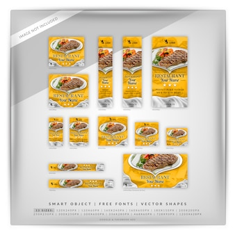 Food & restaurant google banner set