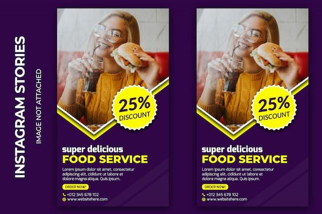 Food social story premium psd