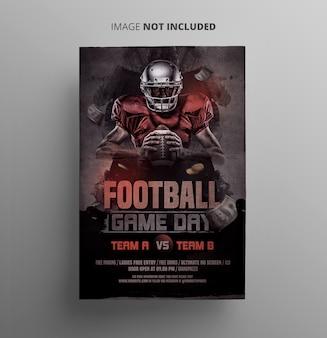 Football sport flyer
