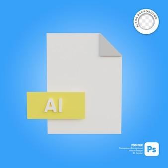 Format ikony pliku 3d ai