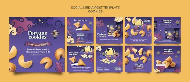 Fortune cookies posty w mediach społecznościowych