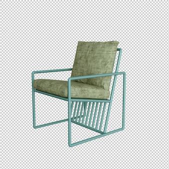 Fotel z zielonej tkaniny