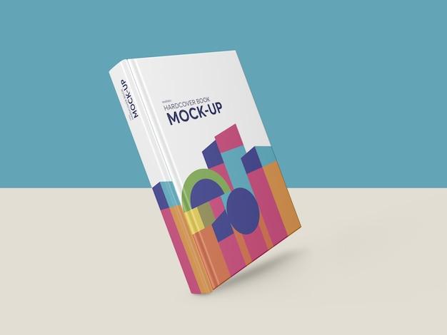 Fotorealistyczna makieta książki w twardej oprawie