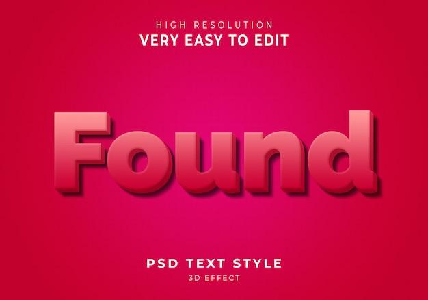 Foun nowoczesny efekt tekstowy