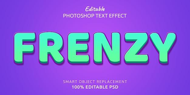 Frenzy edytowalny efekt stylu tekstu