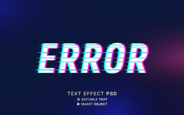 Futurystyczny efekt tekstu usterki