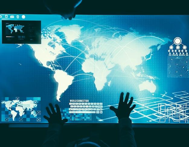 Futurystyczny koncepcja globalnego biznesu