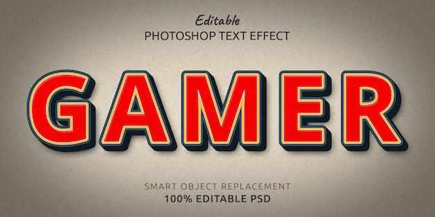 Gamer edytowalny efekt stylu tekstu psd