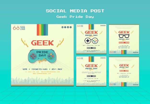 Geek dumny dzień w mediach społecznościowych