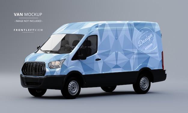 Generic utility van car mock up front left view of van mockup