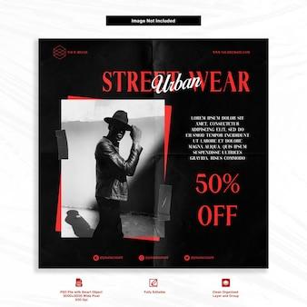 Gentleman fashion urban instagram streetwear szablon mediów społecznościowych