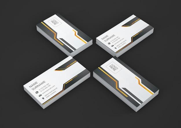 Geometryczna wizytówka wizytówki