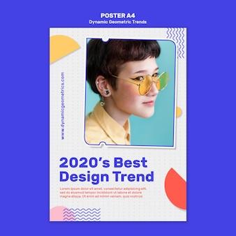 Geometryczne trendy w plakacie do projektowania graficznego