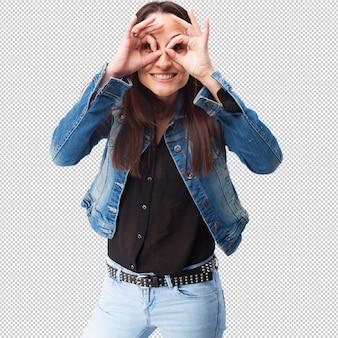 Gest okularów kobiety