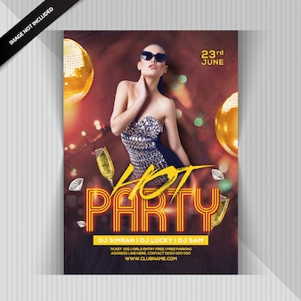 Girls hot party flyer