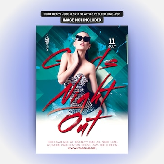 Girls night out music party poster