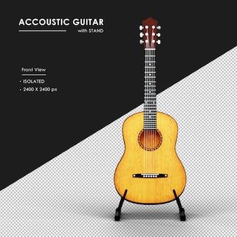 Gitara akustyczna ze stojakiem od przodu