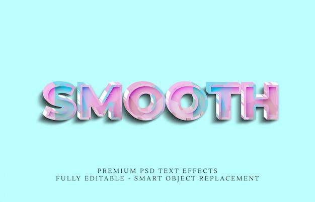 Gładki efekt stylu tekstu, efekty tekstowe premium