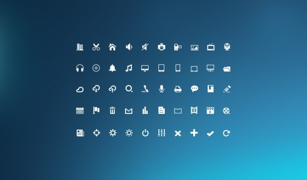 Glify zestaw ikon ikona mini mini glyph
