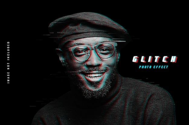 Glitch efekt fotograficzny psd