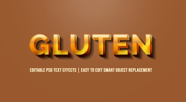 Gluten w efektach tekstowych 3d