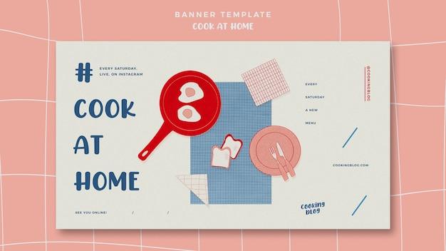 Gotować w domu poziomy baner