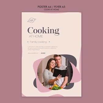 Gotowanie w domu plakat koncepcja