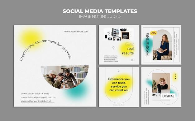 Gradientowy estetyczny szablon postu w mediach społecznościowych
