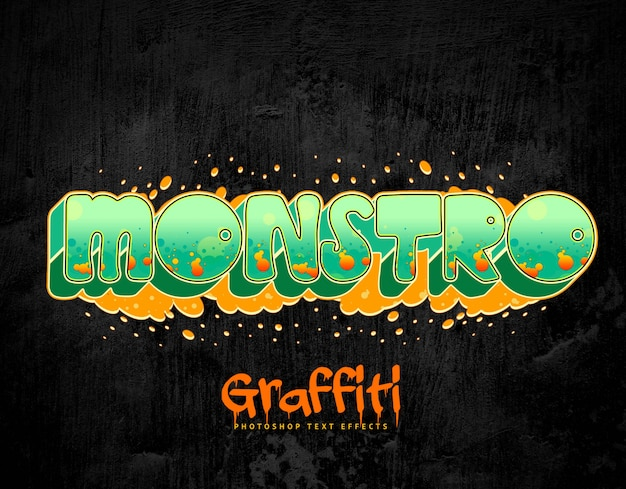 Graffiti efekty tekstowe styl warstwy psd