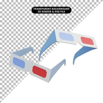 Grafika trójwymiarowa okulary 3d
