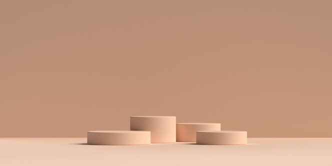 Grafika trójwymiarowa podium kształtu geometrii abstrakcyjnej sceny