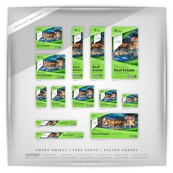 Green Sharp Real Estate Reklamy Google I Facebook Premium Psd