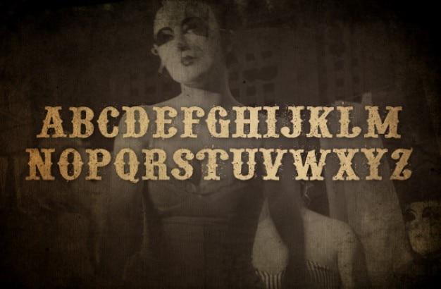 Grunge ozdobny font