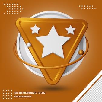 Gwiazda lub ocena renderowania 3d ikona