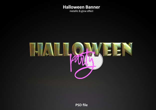 Halloween party banne