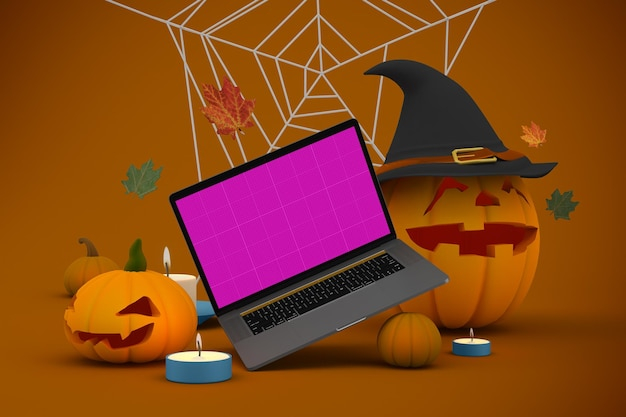 Halloweenowa makieta strony internetowej